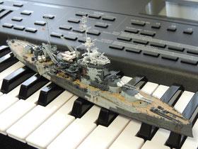 英国 戦艦 『ウォースパイト(Warspite)』と楽器 ◆模型製作工房 聖蹟