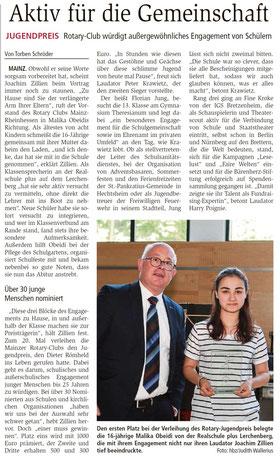 AZ Mainz vom 11.6.2016 (zum Vergrößern klicken)