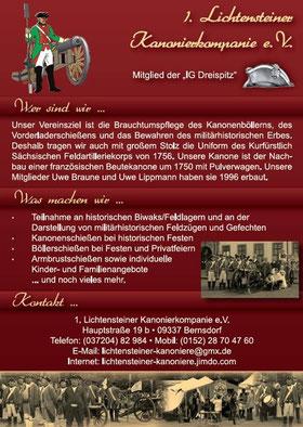 Imageflyer der Lichtensteiner Kanoniere