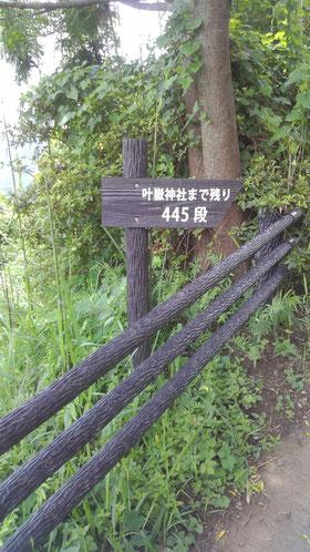 ボードウォークからは445段