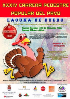 XXXIV CARRERA POPULAR DEL PAVO - Laguna de Duero, 20-12-2015