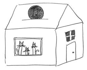 Jerry Katzenhöhle kaufen und Gutes tun - jerry's spendet pro verkaufter Höhle 1 EUR