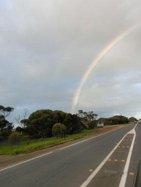 オーストラリアで見た虹(#^.^#)
