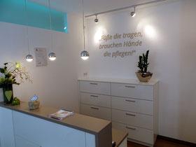 Praxis für Podologie in Billerbeck im Kreis Coesfeld im Münsterland - Empfang und Terminvergabe