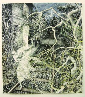 """""""Minna"""", Aquarell, Tusche, 110 x 95 cm, 2008"""