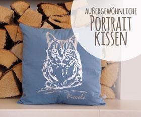 Portraitkissen Kissen individuell personalisiert Portrait persönlich Kind Baby Tier Mensch Katze Geschenk Weihnachten Geburt Geburtstag