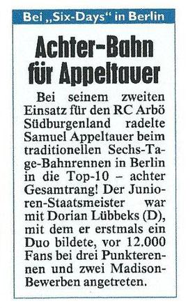 Burgenland Kronenzeitung Sport Donnerstag 29.01.2015