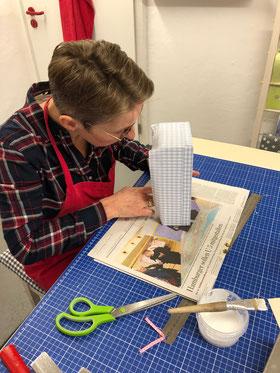 Kleenex-Box, Papierwerkstatt Andrea Schaper, Papierwerkstatt, Papierwerkstatt Hamburg, Kurse, Workshop