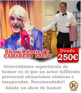camarero falso y drag para bodas en Cadiz