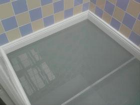 sol en verre dans un puit de lumiére