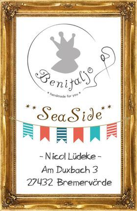 SeaSide, Mützenkollektion, Benitaljo, Plönjeshausen, Bremervörde, Label, Ostsee, Fehmarn, Surfshop, Beanie edel, Holzknopf