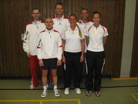 2.Mannschaft v.l.: Martin Raulfs, Karsten Jörgens, Christian Bauer, Christina Weck, Andreas Rottmann und Alexandra Nahs