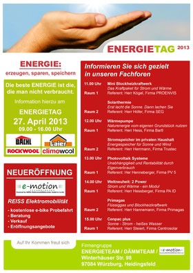 Energietag 2013 Würzburg
