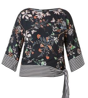 schicke Bluse mit schwarz-weißen Streifen XXL