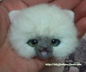 cat 羊毛フェルト 猫 オリジナルアイ