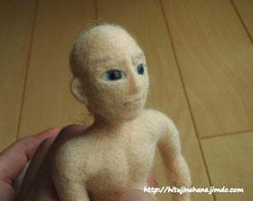 羊毛フェルト 人形の耳