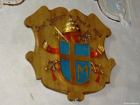 Wappen von Johannes Paul II., der 1993 Marienweiher zur Basilika erhob
