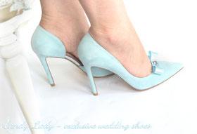Туфли небесно-голубые замшевые   4630грн