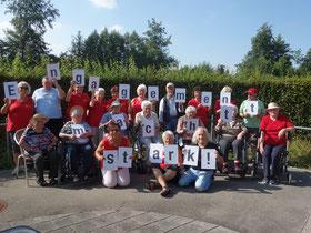 """Freundeskreis ASB Seniorenzentrum """"Sofie Weishaupt"""" in Schwendi: """"...was unser Engagement bedeutet, wir sind für die Bewohner da, ob beim Feiern , Rollstuhlausfahrt oder nur zum Zuhören und vieles mehr....Engagement macht stark!"""""""