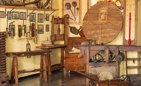 collezione di rari torchi in legno
