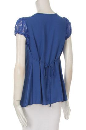 short sleeve maternity top blue
