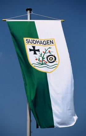 Straßenfahne mit Wappen