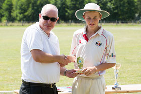 Ed Clayton receives bowling award