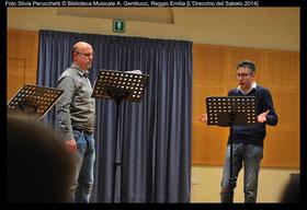 Daniele Monti ( a sin. Ariodante) Aurelio Corsini (Polinesso)