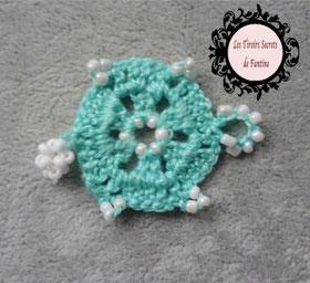 modèle Béatrice, maillon de bijou à créer hexagonal au crochet
