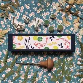 Coffret tampons étang japonais carpe koï