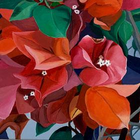 Magnolien 60 x 60 cm Oel auf Leinwand