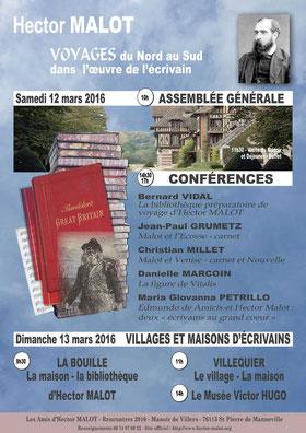 Conférences - Hector Malot - Voyages du Nord au Sud