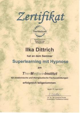 Zertifikat Superlearning mit Hypnose