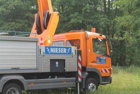 Firma Nieser sponsorte den Hubsteiger
