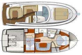 Jeanneau Prestige 440 Hardtop ORVAS Yachting Yachtcharter Motoryacht Flybridge Split ACI Marina