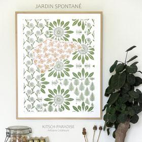 Jardin spontané #6 - 40X50 cm