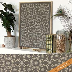 #marguerite #fleur #gravure #linogravure #kitsch #paradise #kp #peinture #artisan #créateur #artisanat #papier #peint