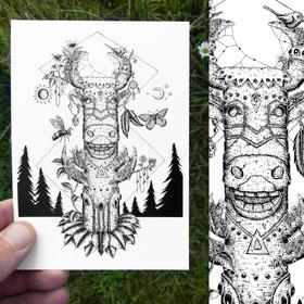 Totem - Carte postale A6