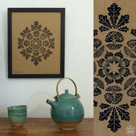 kitsc-paradise kp exposition encre de chine gravure mantras