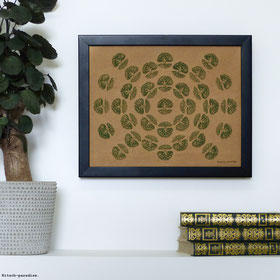 Mandala Arbres.  24 X 30cm