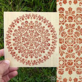 Mandala du chêne - Format 148 X148 mm