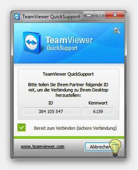 TeamViewer Quick Support Anwendung