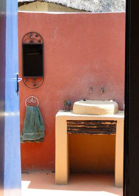 Tür zum Bad