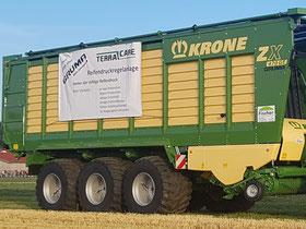 Krone Ladewagen ausgestattet mit TerraCare Reifendruckregelanlage.