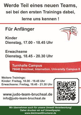Flyer Judo-Team Bruchsal Hinten