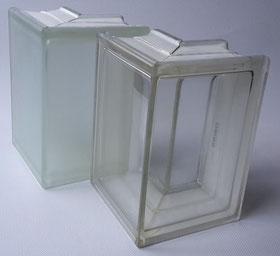 CLEAR 1919/8 Corner 90° Sahara 1S Clearview (Vollsicht, glatt)  Eckstein Endstein Satiniert 1 Seite Glasbausteine   Glass Blocks Glassteine Briques de verre Solaris Glasblock Glasblokke Glass Blokker 13,2x19x8 90° Glassteine Eckstein  Glazen bouwstenen Gl