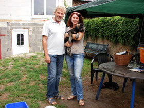 Huckleberry Finn (Jack) with  his new owners - 03/08/2014