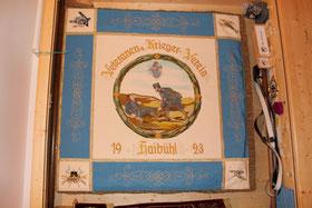 Fahne des Kriegervereins ( gegr. 1923) aus dem unser Verein hervorging.