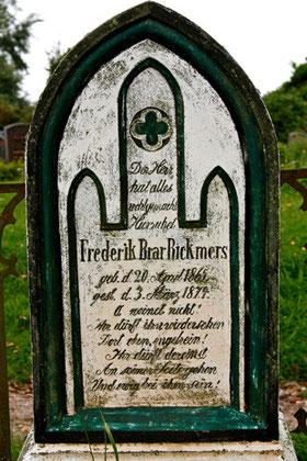 Kirchendarstellung, Friedhof Süderende auf Föhr