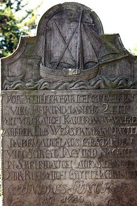 Seefahrerbiographien - über vier Jahrhunderte 1678 - 1929, Weibliche Inselbiographien im 17. und 18. Jahrhundert, Friedhof Nebel auf Amrum